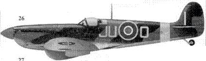 26. «Спитфайр» Mk IX «MA48I/JU-O» флэг-офицера Ирвинга «Хэп» Кеннеди, 11-я эскадрилья, Фальконе, Сицилия, сентябрь 1943г.