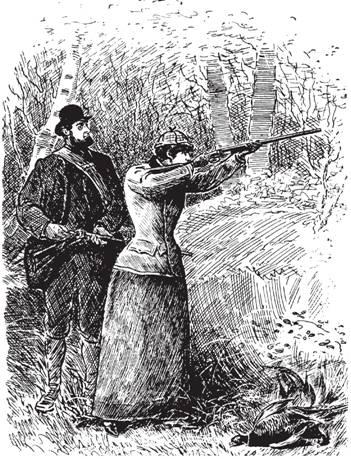 Рис. 106. Охотница времен Эдуарда и заряжающий. Из книги Ч. Ланкастера «Искусство стрельбы» (1906)