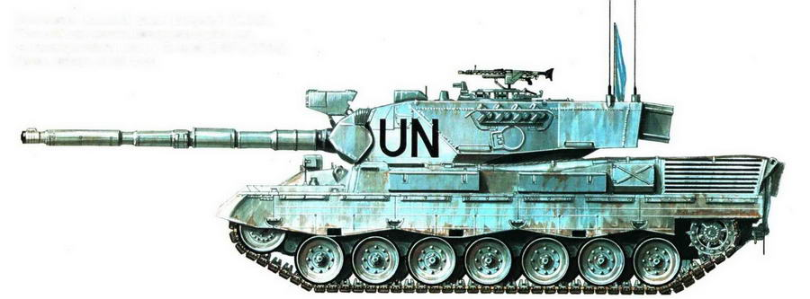 Основной боевой танк Leopard 1A5DK. Датский <a href='https://med-tutorial.ru/m-lib/b/book/1423520874/138' target='_blank' rel='external'>контингент</a> Международных сил по поддержанию мира в Боснии (UNPROFOR). Тузла, январь 1995 года