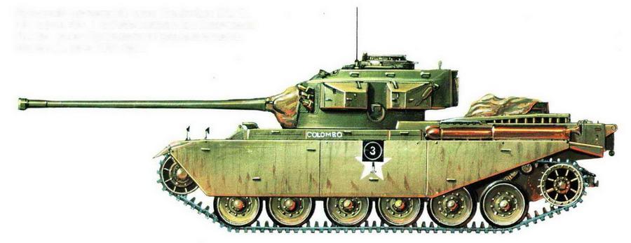 """Средний пушечный танк Centurion Mk 3. Эскадрон """"С"""" 8-го Собственного Его Величества Королевского Ирландского гусарского полка. Корея, февраль 1951 года"""