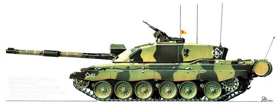 Основной боевой танк Challenger 2. Королевский Шотландский драгунский гвардейский полк. Германия, 1998 год