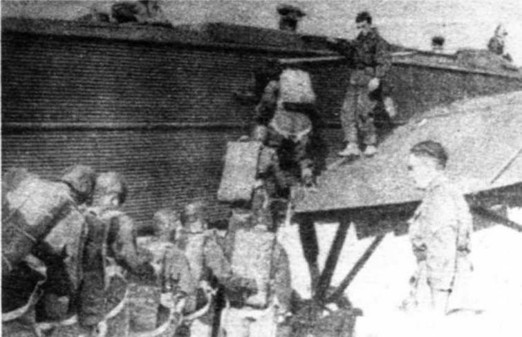 Посадка парашютистов в ТБ-3