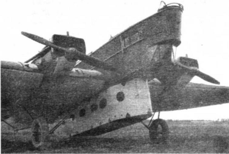 Бомбардировщик ТБ-1 с десантной кабиной КП-1