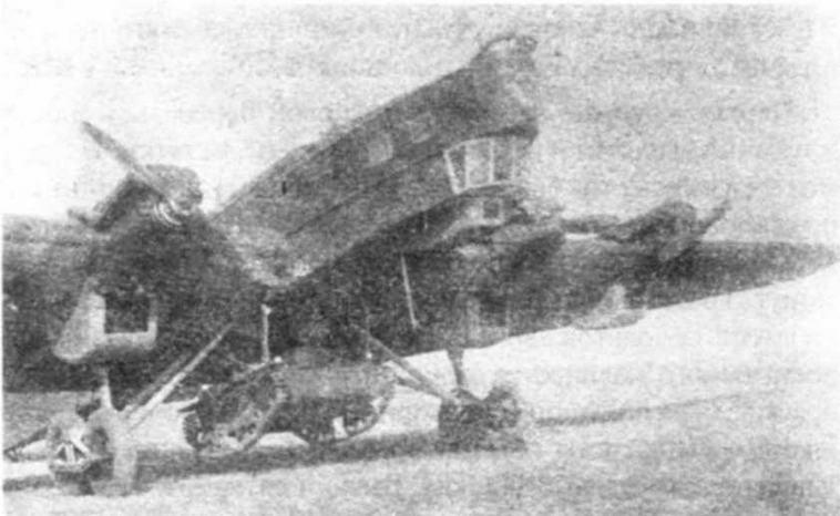 ТБ-3 с плавающим танком Т-37А