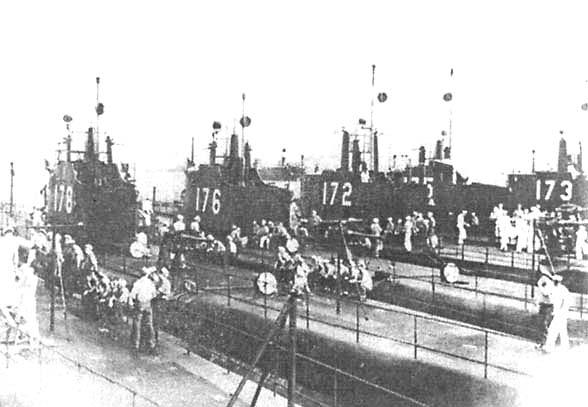 Флотилия лодок типа «Р» в базе