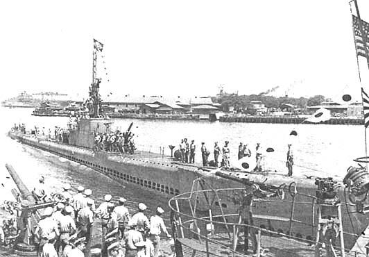 Подводная лодка «Тиноса» в 1945 году