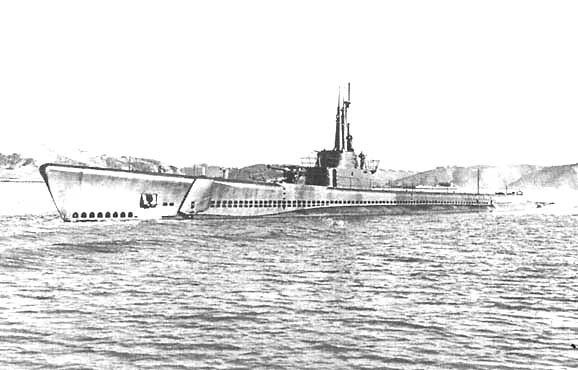 Подводная лодка «Тэнг» в декабре 1943 года