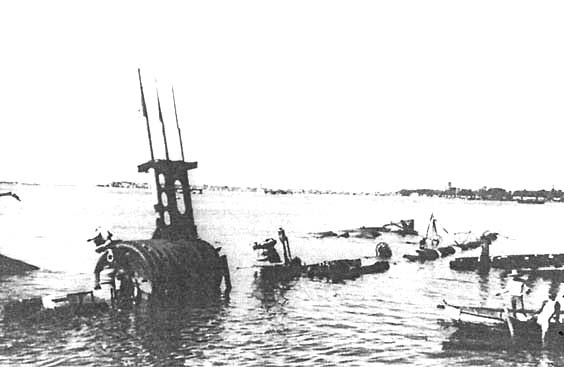 Подводная лодка «Силайон», потопленная в Кавите