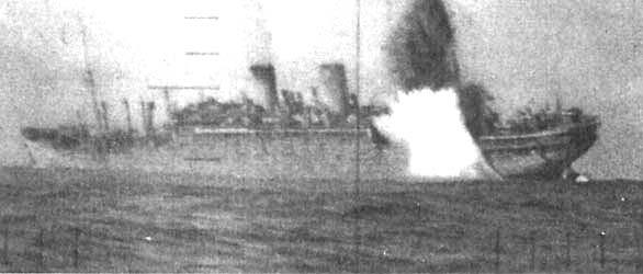 Японский лайнер «Рюко-мару», торпедированный подводной лодкой «Паффер» 1 января 1944 года