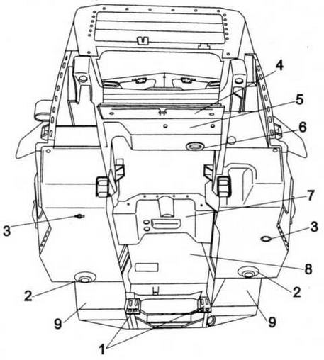 Броневой корпус ЗИС-100 (вид снизу):