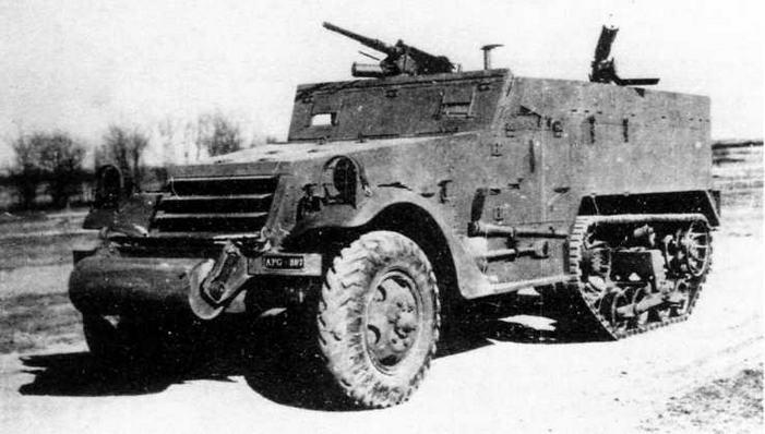 Наиболее популярный в Красной Армии в годы Великой Отечественной войны американский полугусеничный бронетранспортер М2