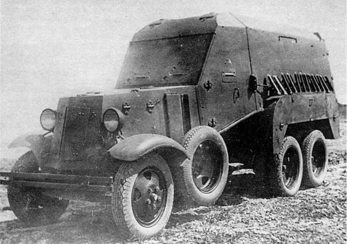 Бронеавтомобиль БА-22 можно рассматривать как первый отечественный бронетранспортер