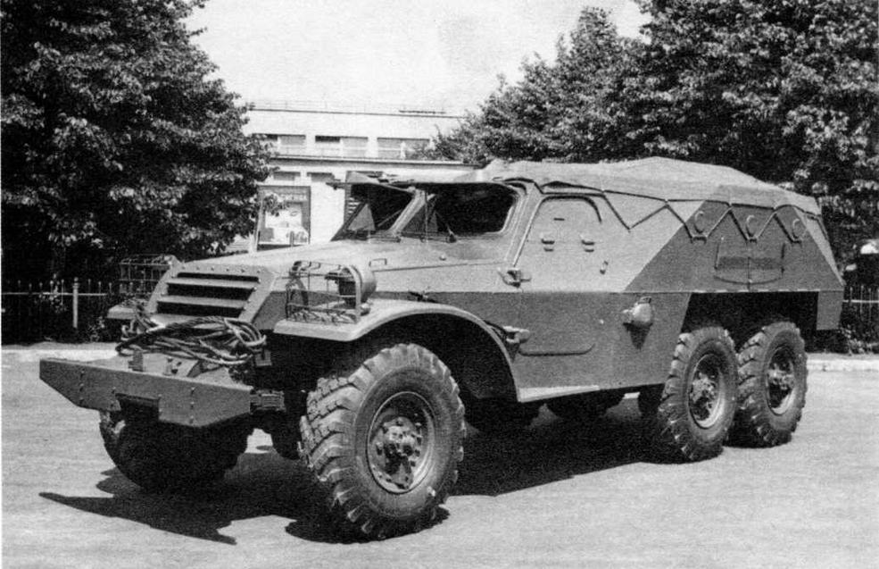 Бронетранспортер БТР-152В1 на заводском дворе