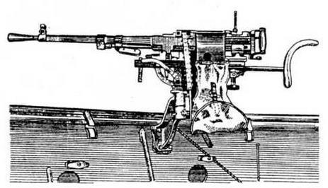 Крепление пулемета СГМБ на бортовом вертлюге