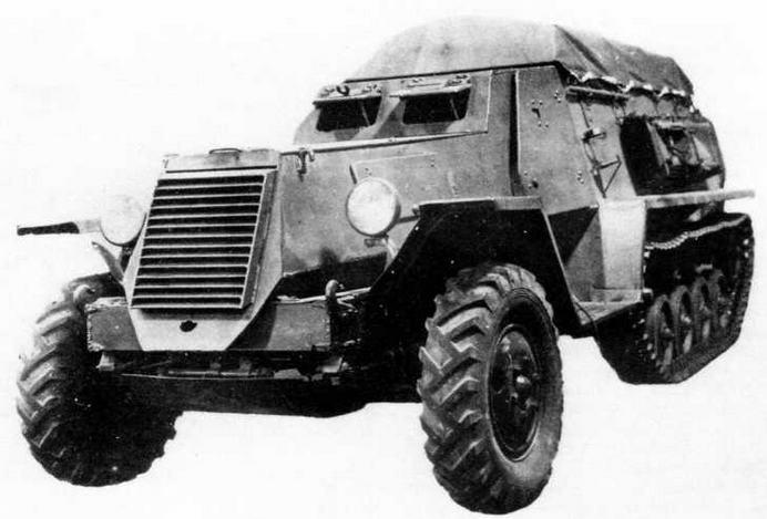 Полугусеничный бронетранспортер Б-3. 1944 год