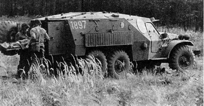 В 80-е годы бронетранспортеры БТР-152 (в данном случае БТР-152К1), изъятые из мотострелковых подразделений ННА ГДР, использовались в качестве санитарных машин поля боя