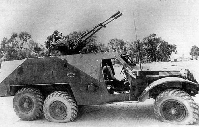 БТР-152В1 с 23-мм зенитной установкой ЗУ-23-2 одного из боевых отрядов Организации освобождения Палестины. Машина была подбита и захвачена израильскими войсками во время войны в Ливане в 1982 году
