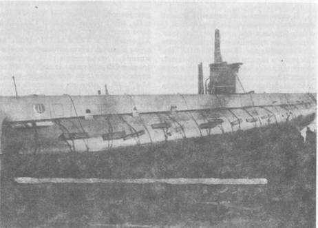 Подводная лодка М-90 на слипе завода № 190 им. А.А.Жданова