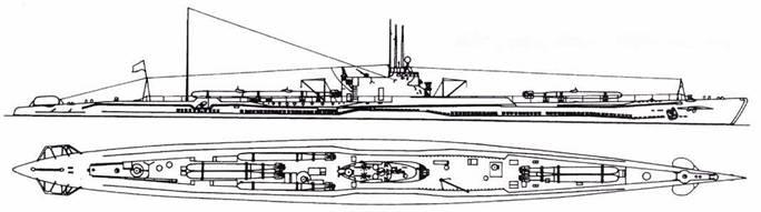 И-47 после второй переделки (шесть торпед).