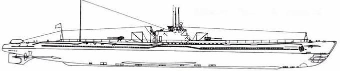 И-53 после первой переделки (четыре торпеды).