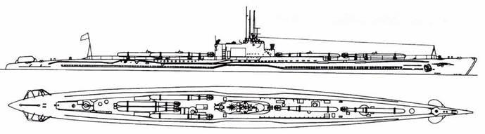 И-53 после второй переделки (шесть торпед).