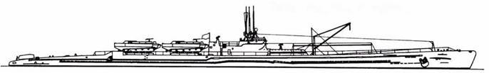 И-58 после первой переделки (две торпеды).