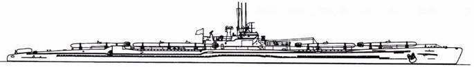 И-58 после второй переделки (шесть торпед и шноркель).