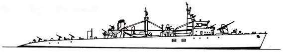 Японский войсковой транспорт типа LSTI.