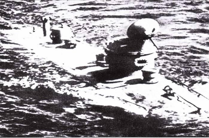 Японская сверхмалая подводная лодка типа Хи-1 или Ха-2, 1936г.