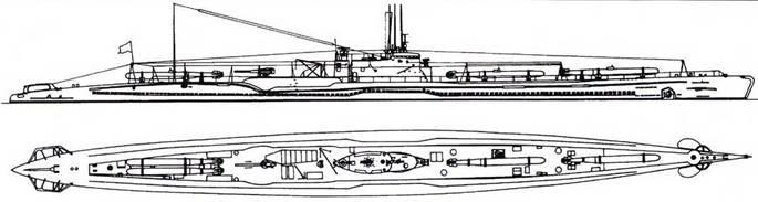 И-36 после первой переделки (четыре торпеды).