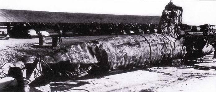 Японский сверхмалая подводная лодка, поднятия американцами со дна в Перл-Харборе.