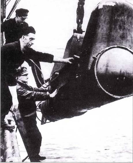 Спуск на воду Chariot без боевой головки.