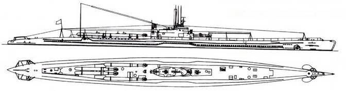 И-37 после переделки (четыре торпеды).