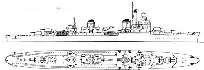 Итальянский легкий крейсер Ulpio Traiano
