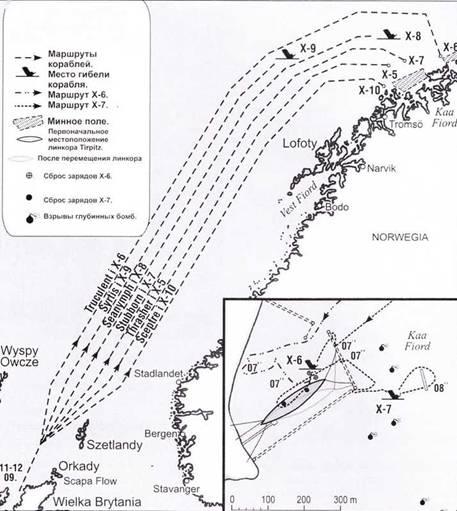 Ход первой фазы операции Source, 11–20 сентября 1943 года.
