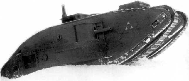 Танк MK-V на зимних маневрах 1930 года (ЦМВС).