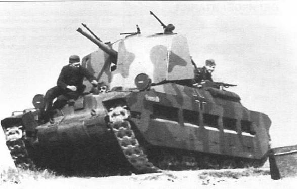 Трофейная «Матильда», переделанная в САУ, вооруженную 50-мм танковой пушкой