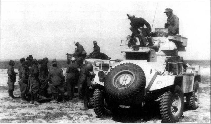 Бронеавтомобиль Humber Mk I, захваченный германским Африканским корпусом в 1942 году