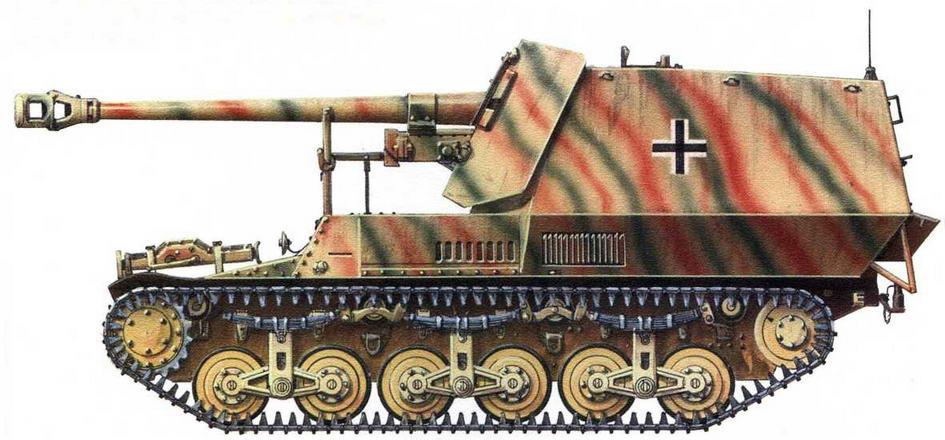 75-мм самоходная противотанковая пушка 7,5-ст-Рак 40/1 на базе тягача Lorraine-S(f). Франция, 1944 г.