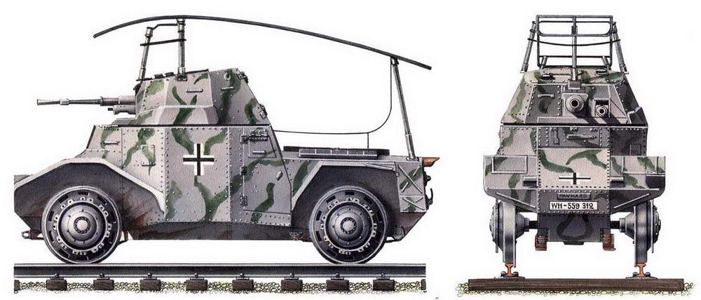 Бронедрезина Panzerspahwagen Р 204(f). Восточный фронт, 1942 г.