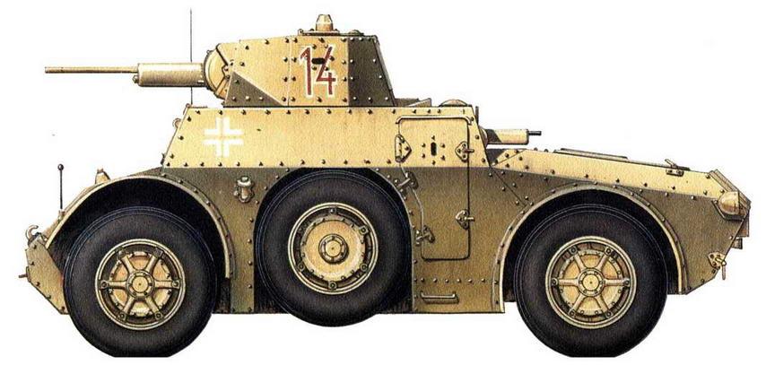 Panzerspahwagen АВ 41 (i). 7-я добровольческая горно-<a href='https://arsenal-info.ru/b/book/3718672302/52' target='_self'>пехотная дивизия</a> СС «Принц Евгений», Югославия, 1944 г.