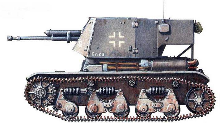 Selbstfahrlafette 4,7-cm-Pak(f). Нормандия, 1944 г.