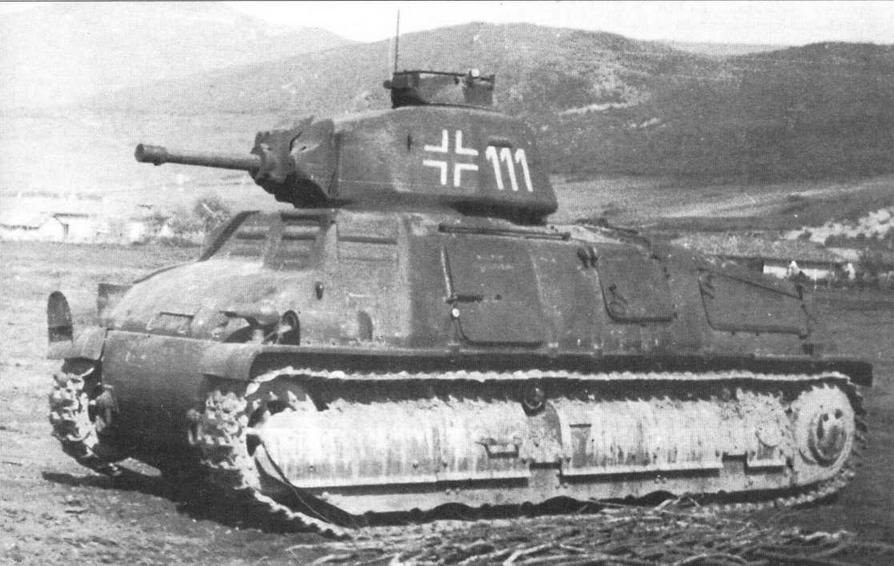 Танк 35S(f) из состава 204-го немецкого танкового полка. Крым, 1942 год