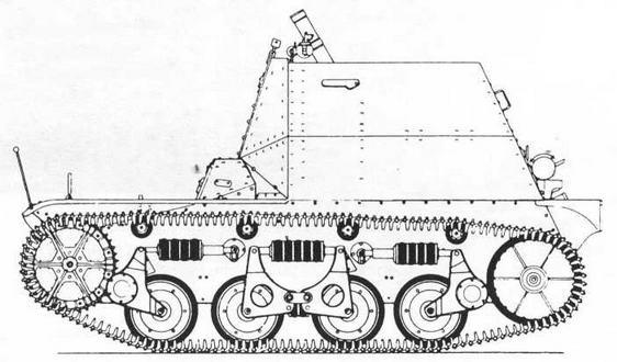 8-cm-schwerer Granatwerfer 34 aufAMR 34ZT(f)