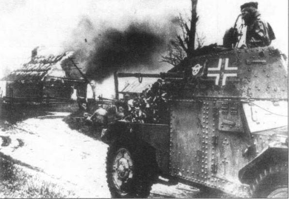 Трофейные бронеавтомобили Panhard 178(f) использовались и в полицейских формированиях на оккупированных территориях.