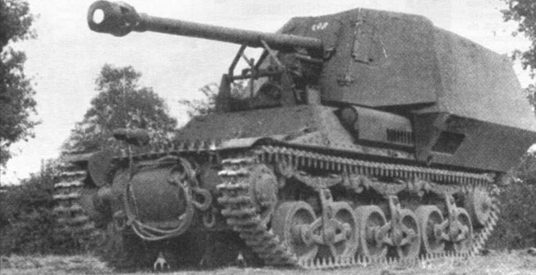 75-мм самоходная противотанковая пушка на базе артиллерийского тягача Lorraine-S(f). В войсках эти системы получили название Marder I