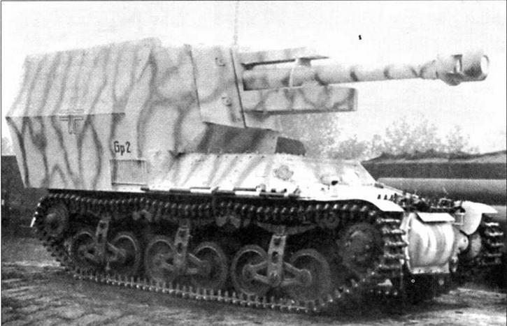 105-мм самоходная гаубица 10,5-cm-leFH 18/4 на базе артиллерийского тягача Lorraine-S(f)