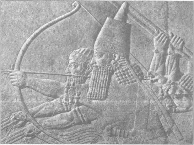 Ассирийский царь Ашшурбанипал на охоте. VIIв. до н.э.