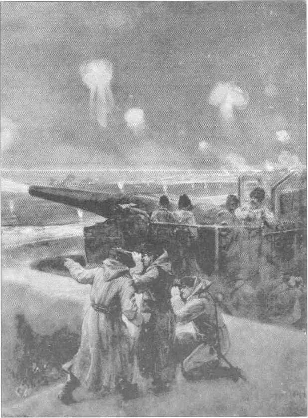 Русская артиллерия во время обороны Порт-Артура.
