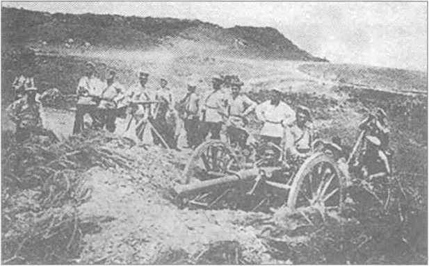 Артиллерия Врангеля на Перекопе.